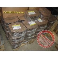Накладки тормозные ПАЗ-32053, 32054 красная шифр 6КХ-1Б 16-3502110 сверленые ФРИТЕКС