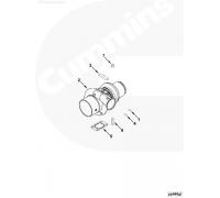 Прокладка турбокомпрессора ПАЗ/К дв.Cummins (прямоуг.4-е отв.) ПАЗ 3919369 Cummins