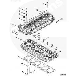Болт крепления головки блока цилиндров 4ISBe, 6ISBe 4ISBe, 6ISBe 3927063 Cummins