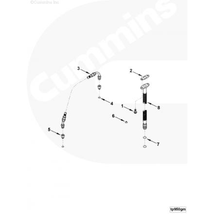 Кольцо упл. трубки слива масла с ТКР ISF3.8, ISBe ISF3.8, ISBe 3928624 Cummins