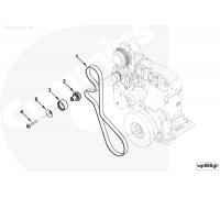 Ремень генератора ПАЗ-4234(удлиненный) дв.Cummins ISF 3.8 3972382 Cummins