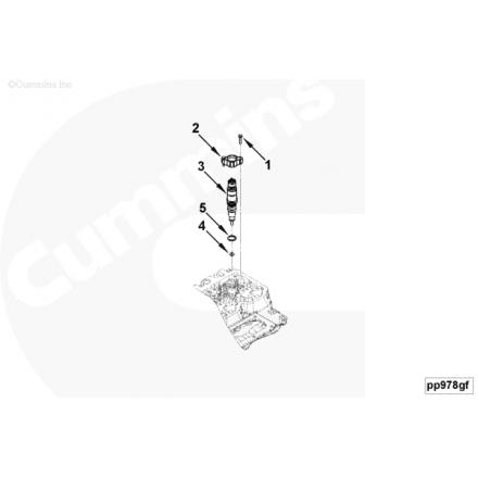 Форсунка Е4 ISBe, ISDe 4, 5 6, 7L (04458835161) (оригинал) ISBe, ISDe 4.5l/ 6.7l 4988835 Cummins