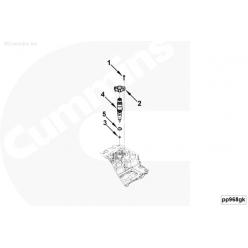 Кольцо уплотнительное форсунки (дв.Cummins ISF 3.8) 5288374 Cummins