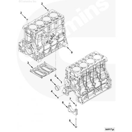 Блок цилиндров двигателя ISF3.8, Г, ПАЗ, МАЗ 5289698 Cummins