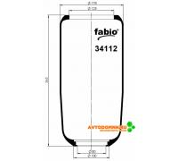 Пневморессора (чулок) AB 411/V1 G12-5/V1 G12-6 зад.370mm ПАЗ-Аврора 3237/3204 резина 341...