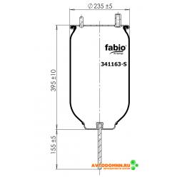 Пневморессора (чулок) (99К-15 Р-116) ПАЗ Вектор NEXT, ГАЗон NEXT резина 341163S FABIO