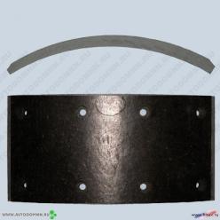 Накладки тормозные ПАЗ-32053, 32054 черная шифр 71-91 16-3502110 сверленые ФРИТЕКС
