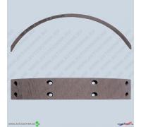 Накладки тормозные УАЗ ручник 69-3507020-10 сверленые ФРИТЕКС