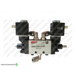 Клапан механизма открывания двери 12 В (в сб.) ПАЗ-3205 и его модификации 358-V11-02S03-...
