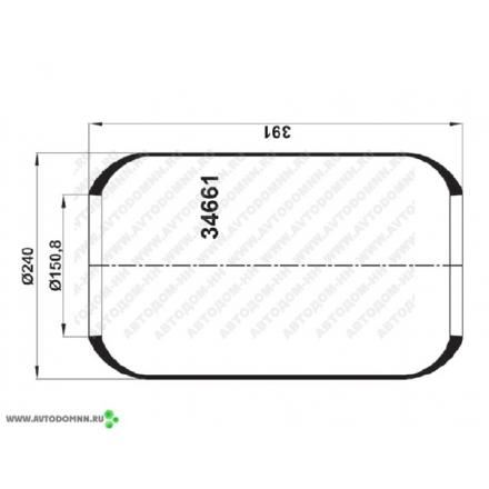 Пневмобаллон без стакана (661 N) MAN, МАЗ-103, 105, 107, 152 KG661NN KRAFTIGER