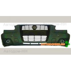 Бампер передний Г3302 БИЗНЕС (в сборе) (бампер,решетка,заглушки,эмблема) Газель Бизнес 3...