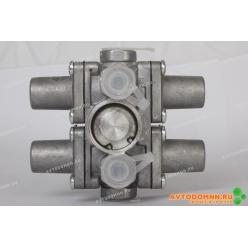 Клапан защитный 4-х контурный ЗИЛ, КАМ 4310, 5320, МАЗ, УРАЛ, ЛиАЗ 5256 100-3515410 АВТО...