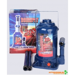 Домкрат 20 т. (мин. 235 мм, мах. 440 мм) с предохранительным клапаном (картонная упаковк...