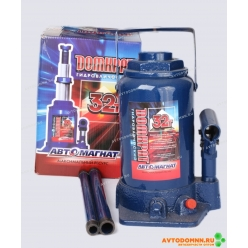 Домкрат 32 т. (мин. 255 мм, мах. 405 мм) с предохранительным клапаном (картонная упаковк...