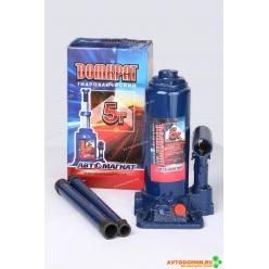 Домкрат 5 т. (мин.195 мм, мах. 380мм) с предохранительным клапаном (картонная упаковка) ...