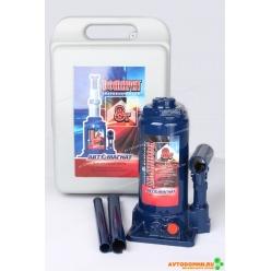 Домкрат 8 т. (мин.200 мм, мах. 385мм) с предохранительным клапаном (пластмассовый бокс) ...