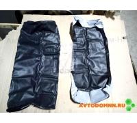 Обивка двухместная сидения (чёрная) (низкая спинка) ПАЗ