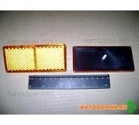Световозвращатель прямоугольный без подсветки (желтый) (ТехАвтоСвет) ПАЗ 3012.3731 ОСВАР