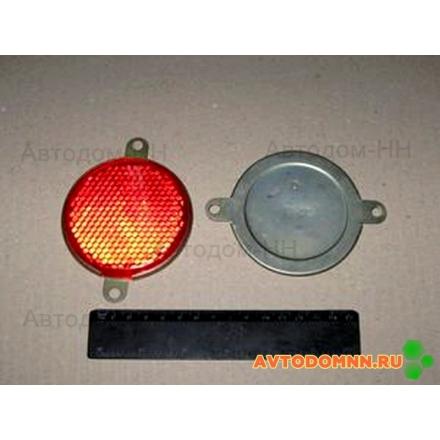 Световозвращатель круглый без подсветки большой (красный) (ТехАвтоСвет) ФП 310 Е ОСВАР