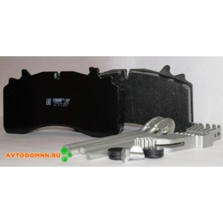 Колодки тормозные для тормозной системы WABCO PAN22.5, GIGANT PROTEC, SAF аналог GDB 5094 с монтажным комплектом ТР.А-123 установочный комплект ТИИР