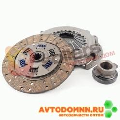 Диск сцепления нажимной, ведомый, муфта выкл. сцепления (металлич.) к-т ГАЗ-2705, 3302, ...