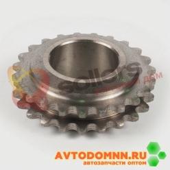 Звездочка распределительного вала двигатель ЗМЗ-514 двурядная цепь, диаметр втулки 5,05 ...