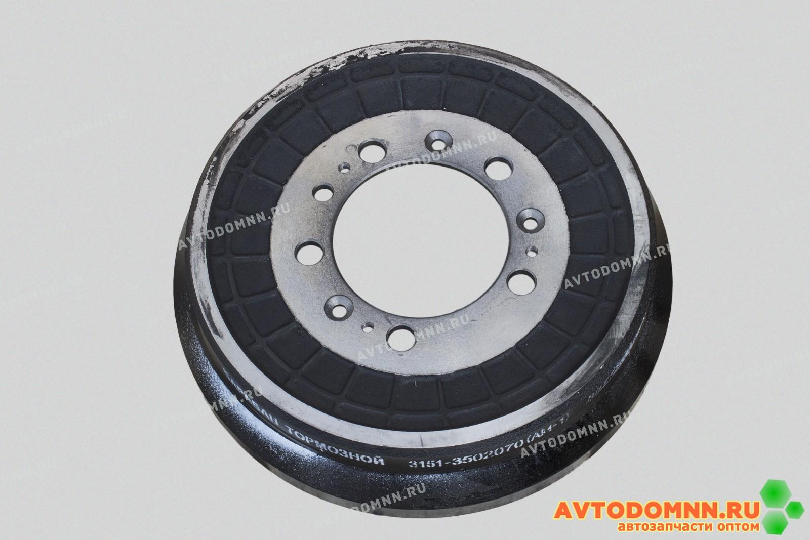3151-3501070 барабан тормозной задний усиленный УАЗ-3151, 3163 Патриот, КАРГО (С АБС) (Динамическую балансировка, крашенный) (аналоги: 3151-00-3501070-95)