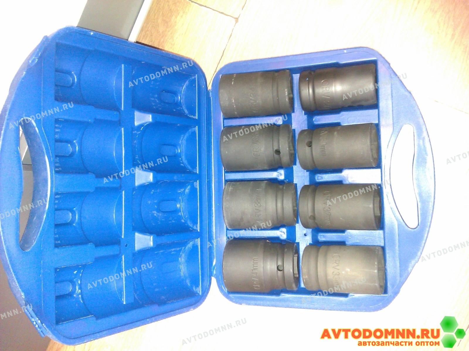 Набор головок набор головок для ключа 11 штук (25мм) (27, 30, 32, 33, 36, 38, 41, 46, 50, 55, 60) в пластиковом боксе